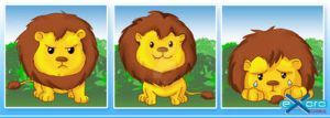 Exoro Designs Emoticons Set 01 Cute Lion by ExoroDesigns