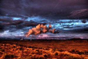 Navajo Power Station Sunset by fogllama