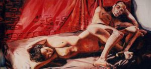 relaionship of man and women nude couple naked art by shharc
