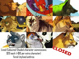 Commissions Closed by BearlyFeline