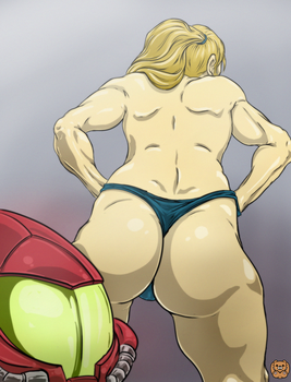 Samus Aran... it's time to  suit up!!! by Grizzlydafurry