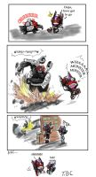 DH VS Barricade 02 by BloodyChaser