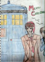 Merry Christmas from The Doctor and I by yaoilovr