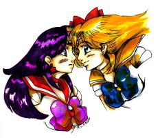 Sailor Mars x Venus by bastett