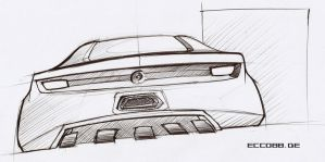 mustang rear sketch by ecco666