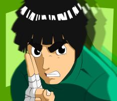 Rock Lee Naruto speed colored (with video) by doommaker1000