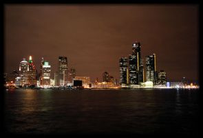 Detroit at night by NOS2002