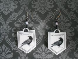 GOT Night's Watch Earrings by AriesNamarie