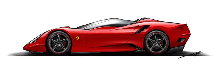 Ferrari Profile Roadster by Vincent-Montreuil