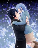 Gruvia - Under the snow by Namida-no-Shinju