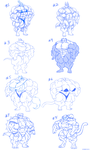 Fem Furry Muscles Pencil Sketches. by Atariboy2600