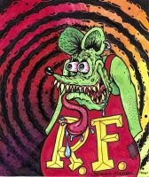 Rat Fink by Chartreuesfreak