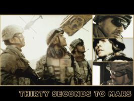 30 Seconds to Mars Wall 329 by martiansoldier