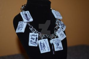 Slenderman Charm Bracelet by capture-the-moment
