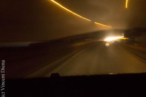 Driving in the fog by Vcent