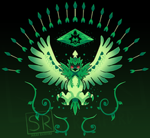 Grass Arrow Strike Decidueye shirt design by SarahRichford