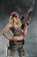 Modern War Red Baret by dustsplat