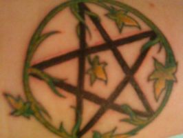 Pentagram Tattoo by Kabikaj