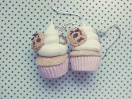 Pink cupcake earrings by M-Made