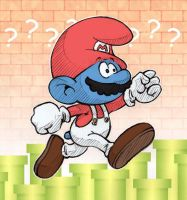 Super Mario Smurf by AliceSacco
