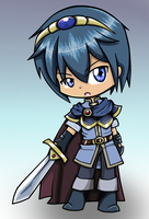 Marth Chibi by DrSpencerReidBietch
