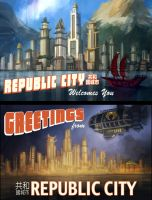 Republic City Postcards by eddie-mendoza