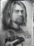 Kurt Cobain Sketch by danleicester