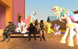Soldiers and ponies by DolphinFox