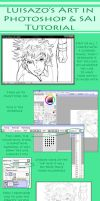 Lineart Tutorial by Luisazo