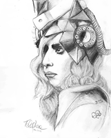 Lady GaGa Telephone Drawing by other-covers