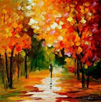Afremov FALL PARK Original Art by Leonidafremov