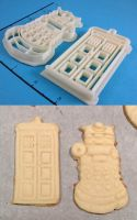 Dr Who Set Cookie Cutters by WarpzonePrints