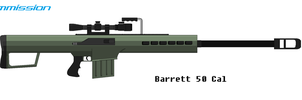 Barrett 50 Cal Pixel Art (Commission Part 1) by Luckymarine577