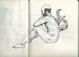 tentacle back sketch by holly-masters