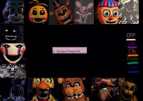 Fnaf 2 pairing meme: All characters by SilviaStarlight5