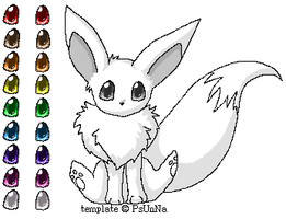 Cute eevee template by Psunna
