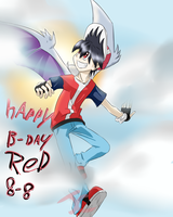 HAPPY B-DAY RED!! by jago12