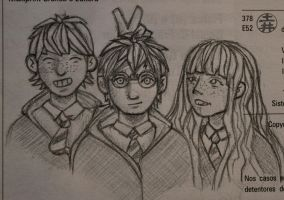 The Golden Trio by ThatCrookedMind