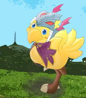 Art Trade: Chocobo by xor101