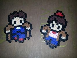 10th and 11th Doctors perler by CraftinNerdy