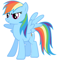 Rainbow Dash Vector - Brave by Anxet