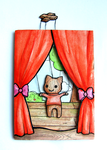 ''Paper Theater'' crafted ACEO Card by Mellymiew