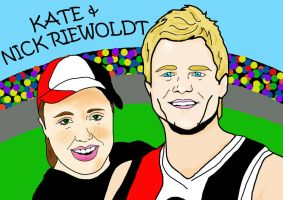 Kate and Nick Riewoldt by Pmore13