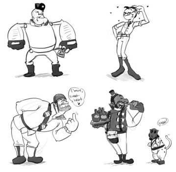 Popeye-TF2 crossover by Monkanponk