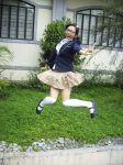 School Girl Jumping by japanesenagi