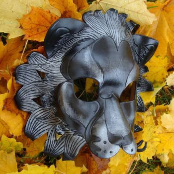 Black Lion Leather Mask by merimask