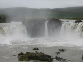 Godafoss Falls by Jezhawk-stock