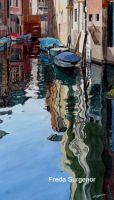 Deep reflections, Venice by FredaSurgenor