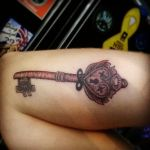 Skeleton Key Tattoo by Plaid-Rose