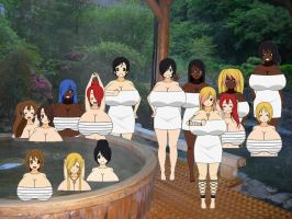 Girls Night Out at The Hot Springs by Legodecalsmaker961